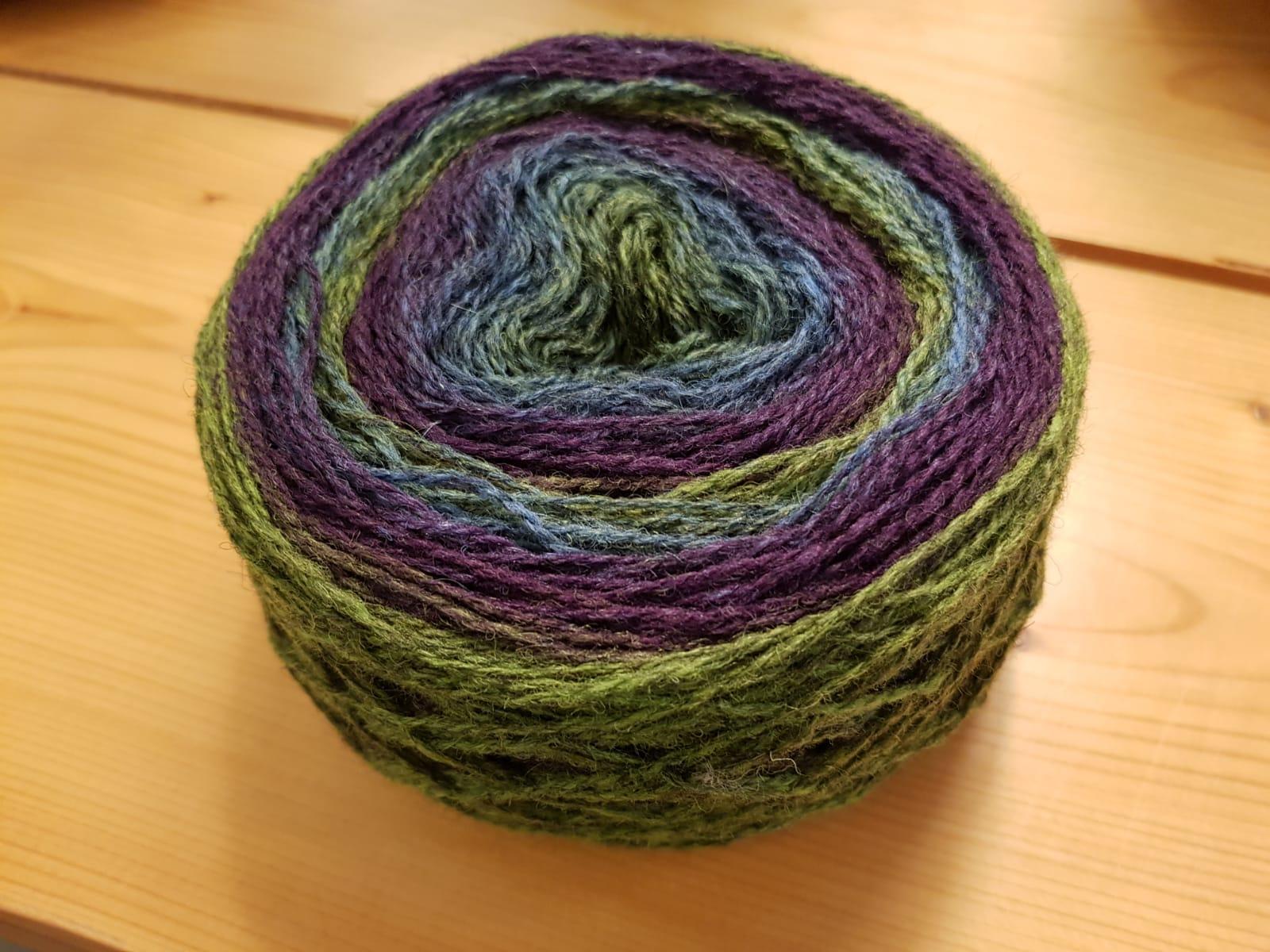 Ullcentrum 8/2-727 Blau-Grün-Lila Blue-Green-Purple