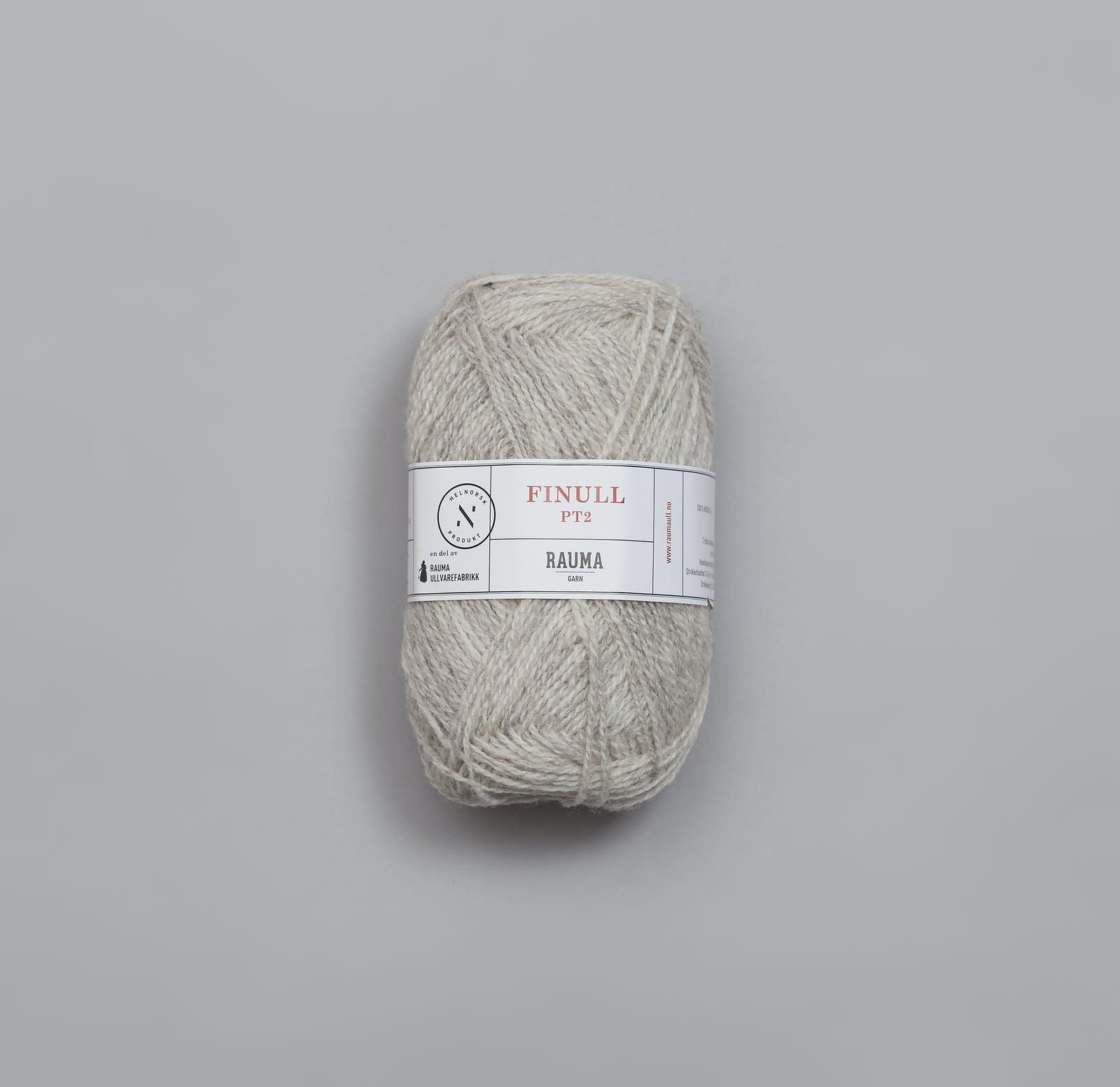 Finullgarn Pt2 - 403 Hellgrau / Lys grå